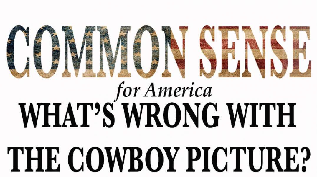 WHAT'S WRONG WITH THE COWBOY PICTURE  according to the left :)