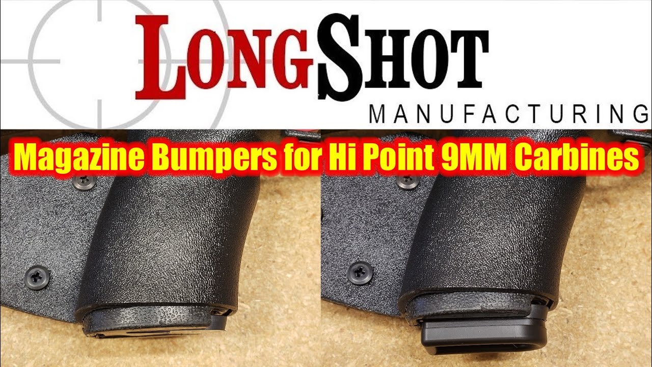 Installing the LongShot Mfg mag bumpers for Hi Point 9MM carbines