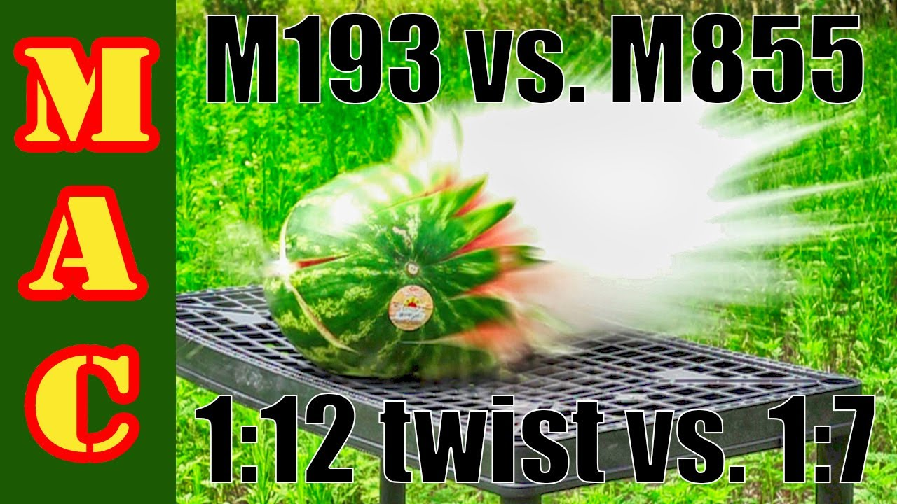 Test: Vietnam era M193 ball 1:12 twist vs. Modern M855 ball 1:7 twist