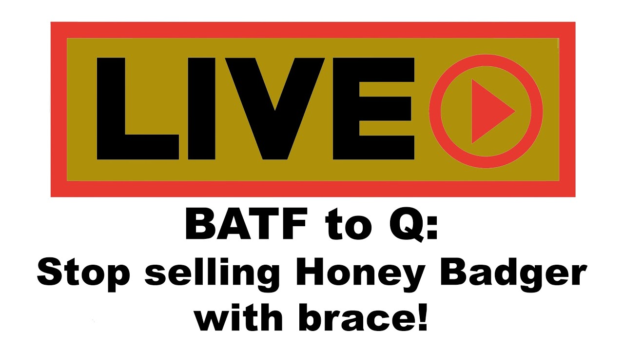 Live with Alex Bosco of SB Tactical: Are Braces illegal now?