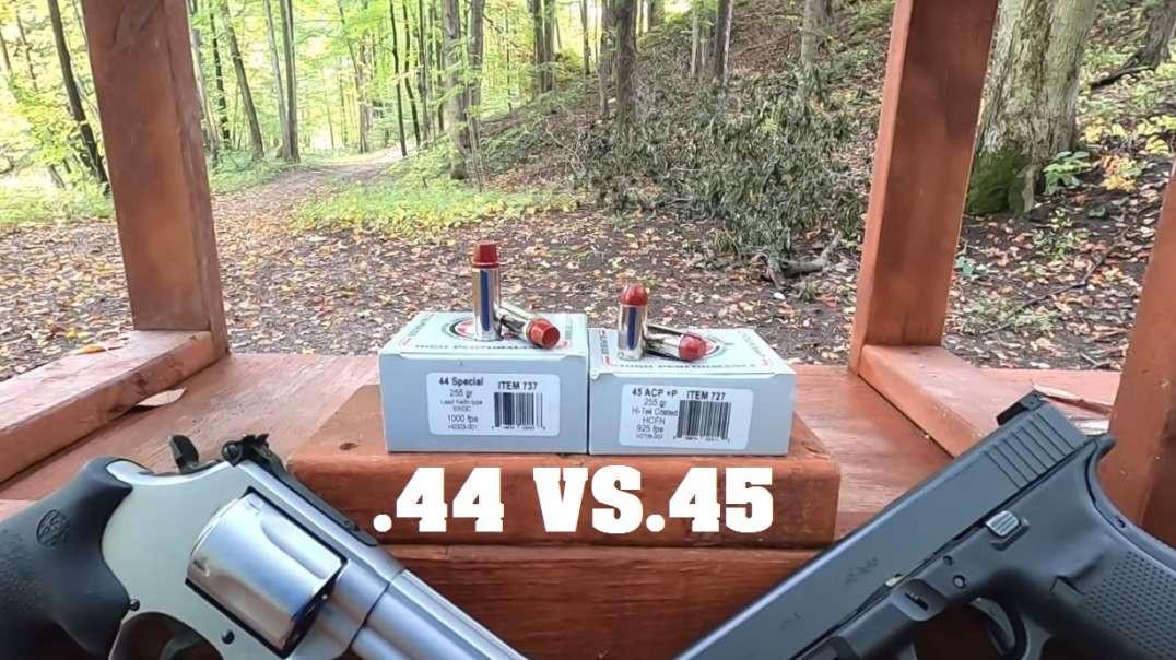 .44 Special VS .45 ACP- 255 gr Hard Cast Underwood