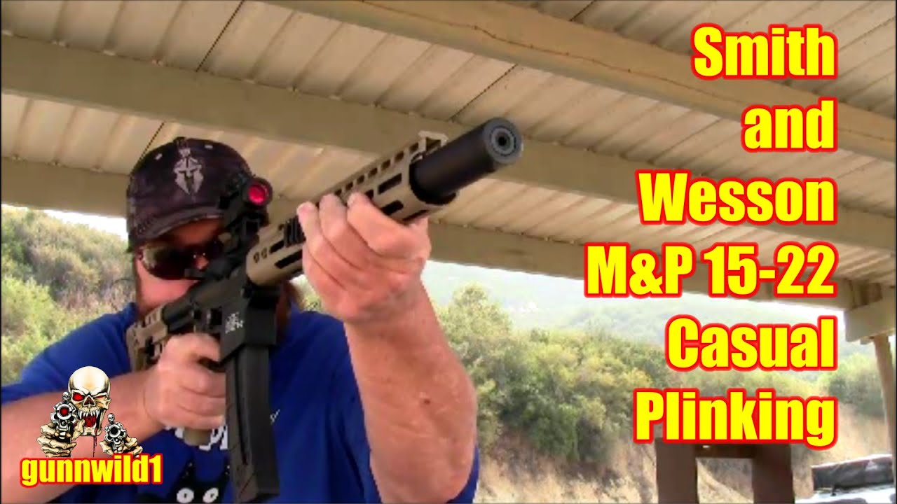 S&W M&P 15 22 casual plinking