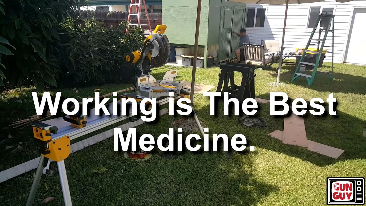 Working is sometimes the best medicine.